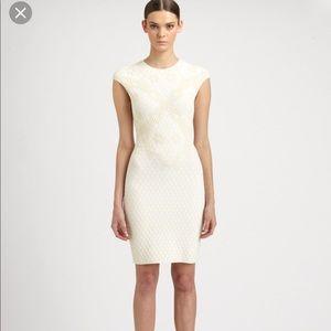 Alexander McQueen cream honeycomb dress size S-M